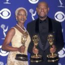 Alfre Woodard and Laurence Fishburne At The 49th Annual Primetime Emmy Awards (1997)