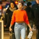 Sarah Hyland in Jeans – Christmas Shopping in Studio City