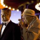 "GEORGE CLOONEY as Danny Ocean and CARL REINER as Saul Bloom in Warner Bros. Pictures' and Village Roadshow Pictures' ""Ocean's Thirteen,"" distributed by Warner Bros. Pictures. The film also stars Brad Pitt, Matt Damon, Andy Ga - 454 x 303"