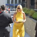 Holly Willoughby in Yellow Dress at ITV Studios in London - 454 x 681