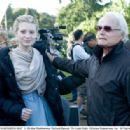 Mia Wasikowska with Richard Zanuck. Photo by: Leah Gallo ©Disney Enterprises, Inc. All Rights Reserved.