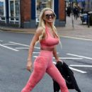 Christine McGuinness in Pink Gym Wear – Out and about in Cheshire