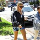 Hailey Baldwin in Short Shorts – Out in Beverly Hills