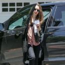 Lily Collins – In Black Jeans seen out In Beverly Hills - 454 x 681