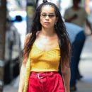 Zoe Kravitz in Red Shorts – Out in New York - 454 x 681