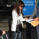 Paula Abdul arriving on a flight at LAX airport in Los Angeles, California on January 12, 2015 - 404 x 594