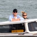 Vacationing on Sunday (April 24) in Venice, Italy
