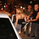 Bar Refaeli Leaving Aria Lounge Bar In Tel Aviv