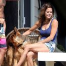 Brooke Burke in Bikini at her beach house in Malibu - 454 x 637