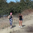 Lea Michelle – Out for a hike with her friend in Los Angeles - 454 x 434