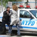 Jennifer Lopez on the set of 'Shades of Blue' in NYC - 454 x 368