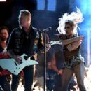 Lady Gaga and Metallica At The 59th Annual Grammy Awards (2017) - 454 x 322