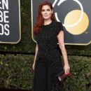 Debra Messing  in Christian Siriano  Dress :  75th Annual Golden Globe Awards