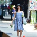Rachel Weisz in Blue Dress – Out in New York - 454 x 527
