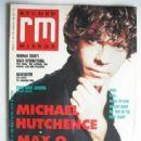 Michael Hutchence - Record Mirror Magazine Cover [United Kingdom] (10 February 1990)