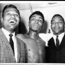 Jim with Sugar Ray Robinson & Cassius Clay