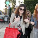 Kylie Jenner lunching with BFF Bella Thorne at the trendy and organic Urth Caffe in West Hollywood Dec. 22, 2012