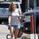 Ashley Greene and Paul Khoury with her dogs in Toluca Lake