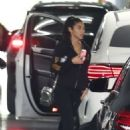 Chantel Jeffries drops off her Mercedes-Benz to get it serviced in Beverly Hills