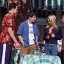Chris Klein, Jason Biggs, Tara Reid and Thomas Ian Nicholas in Universal's American Pie 2 - 2001