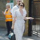 Candice Brown and fiance Liam Macaulay – Arriving at Wimbledon Tennis Tournament in London - 454 x 639