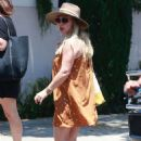 Hilary Duff in Mini Dress – Out for lunch in Beverly Hills
