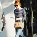 Actress Emma Stone is seen leaving the Meche Salon in West Hollywood, California on June 8, 2016 - 393 x 600