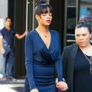 Rihanna made her exit from her New York City hotel in New York on July 6, 2012 to attend her grandmother Clara 'Dolly' Brathwaite's funeral - 432 x 594