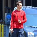 NBA player Steve Nash was spotted on his skateboard in New York, New York on June 29th, 2012