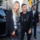Natasha Poly – Arriving at Vogue Dinner Party in Paris - 454 x 681