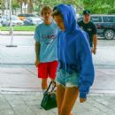 Justin Bieber and Hailey Baldwin at W Hotel in Miami - 454 x 681