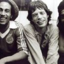 Mick Jagger with Bob Marley & Peter Tosh