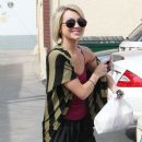 Chelsea Kane, w stops to sign autographs after having food delivered during 'Dancing with the Stars' rehearsals in LA. March 17, 2011