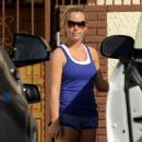 Kendra Wilkinson and her dance partner Louis van Amstel made there way out of the studio in Los Angeles, Ca, March 5, 2011
