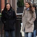 Katie Holmes walks with her friend around Manhattan, New York's West Village neighborhood on January 10, 2017 - 410 x 600