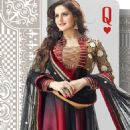 Zarine Khan In Anarkali New Photo Shoot For A New Collection Of 2013 - 454 x 624