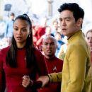 Star Trek Beyond - Zoe Saldana and John Cho