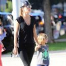 Alessandra Ambrosio Goes Out With Her Son