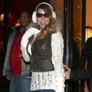 Mariah Carey out doing some last minute Christmas shopping at Louis Vuitton in Aspen, Colorado on December 24, 2013