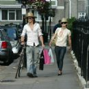 Keira Knightley Returns Home After Shopping, July 29 2006