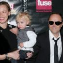 Lars Ulrich of Metallica and family attend the 24th Annual Rock and Roll Hall of Fame Induction Ceremony at Public Hall on April 4, 2009 in Cleveland, Ohio - 454 x 314