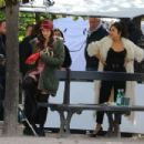 Lily Collins – On the set of 'Emily in Paris' in Paris - 454 x 303