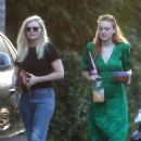 Dakota Fanning and Kirsten Dunst – Heading to a party together in Los Angeles - 454 x 681