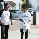 Jaden Smith is spotted shopping on Melrose in Los Angeles, California with a friend on October 14, 2016 - 454 x 572