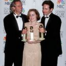 The Producer Chris Carter, Gillian Anderson and David Duchovny At The 54th Annual Golden Globe Awards (1997)