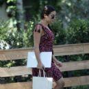 Lea Michele in Mini Dress – Out in Studio City