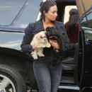 Demi Lovato – Arriving at the recording studio in West Hollywood - 454 x 709