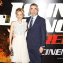 Gillian Anderson attends the UK premiere of Johnny English Reborn at The Empire Leicester Square on October 2, 2011 in London