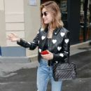 Lucy Hale out in Paris