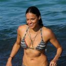 Michelle Rodriguez in Bikini on the beach in St. Tropez - 454 x 681